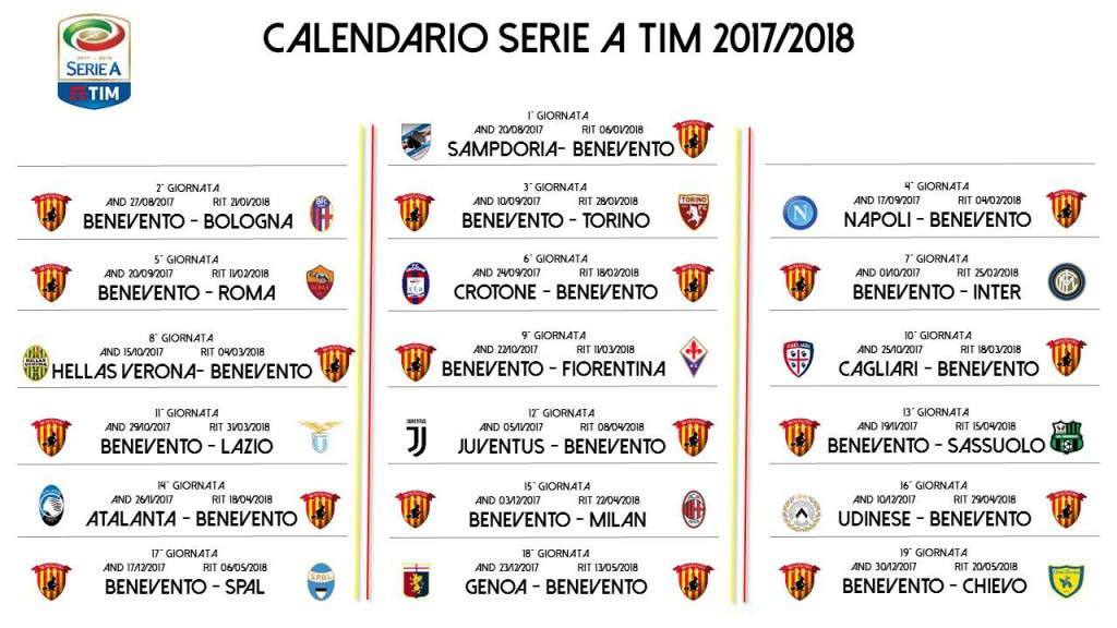 Benevento Calendario.Benevento Calendario Calendario 2020