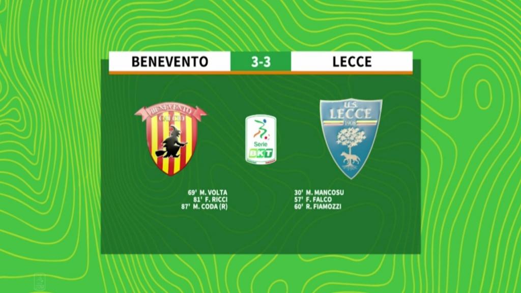 benevento-lecce-3-3